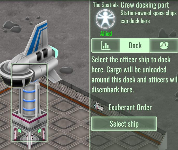 Crew dock