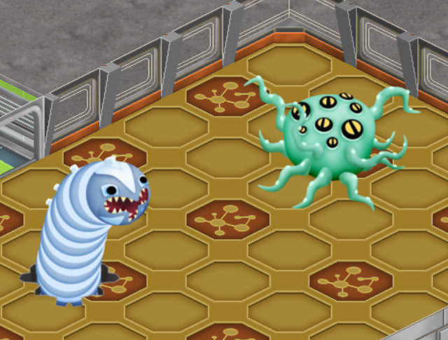 New monsters: worm and octopus