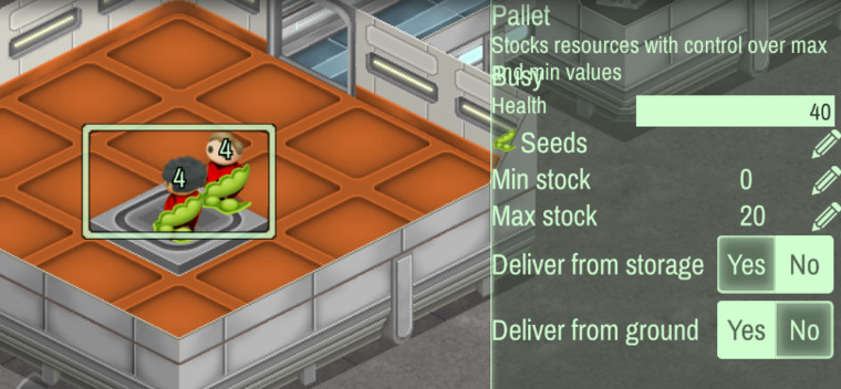 Pallet stock control panel