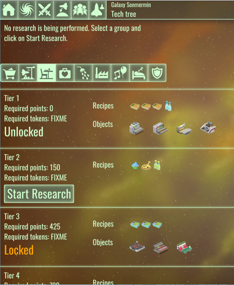 Research screen