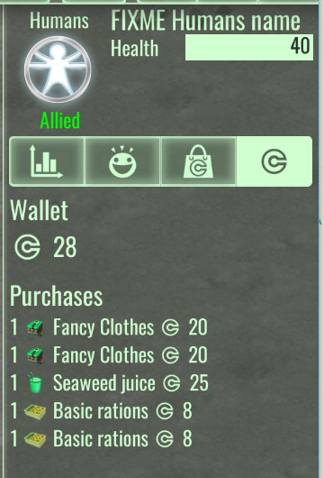 Wallet info